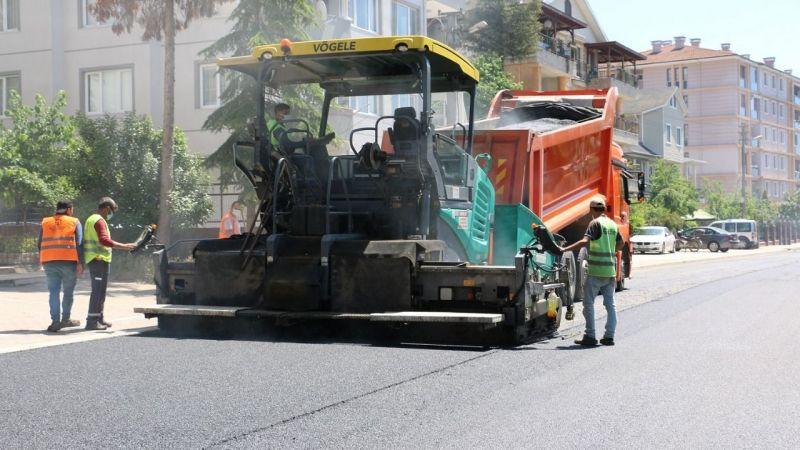 Körfez Denizciler Caddesi'ne 3 bin ton asfalt
