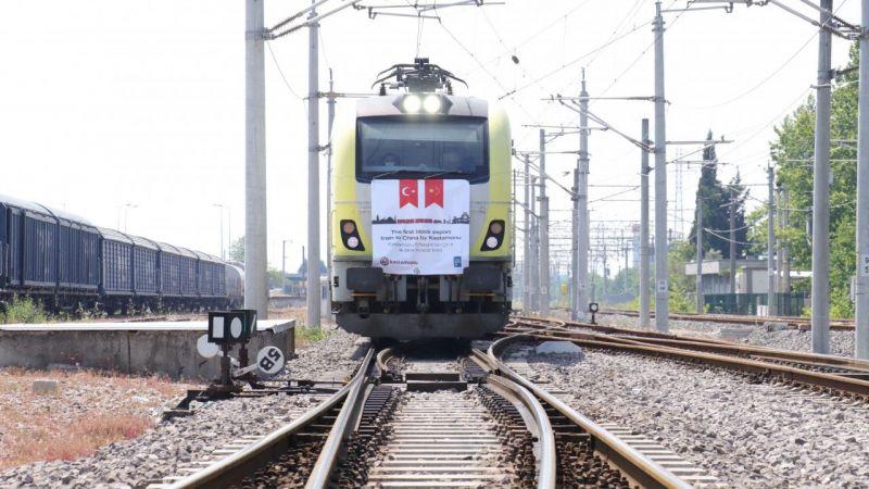 Türkiye'den Çin'e gidecek 6'ncı ve 7'nci ihracat trenleri Kocaeli'den yola çıktı