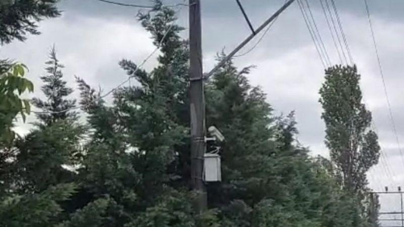 MOBESE kabloları yandı, kablolar telef oldu