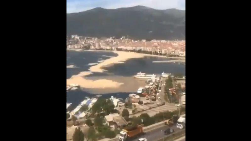 Marmara'da müsilaj (deniz salyası) böyle görüntülendi