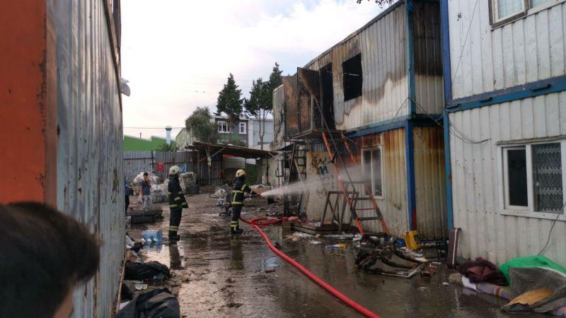 Kocaeli'de hurda deposunda yangın