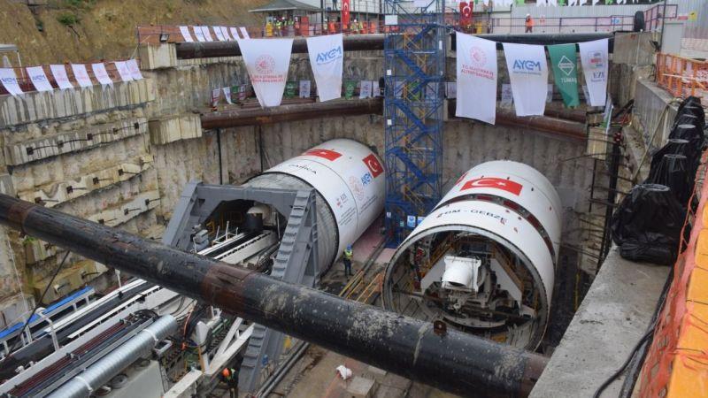 Gebze-Darıca Metrosunda tünel açma kazısı başladı
