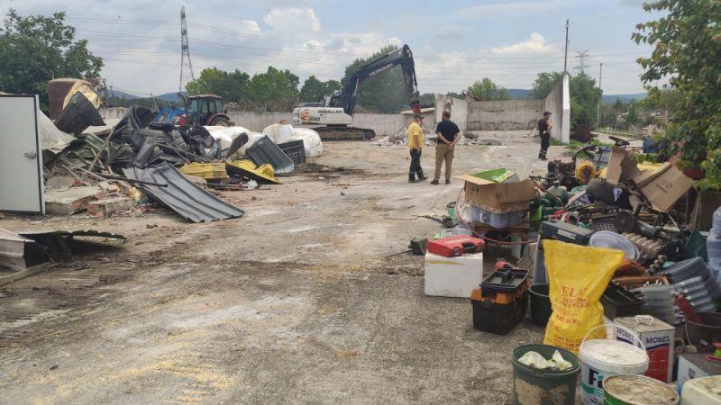 İYİ Partili Türkkan'ın ortağı olduğu şirkete ait çiftlikteki bazı kaçak yapıların yıkımı tamamlandı