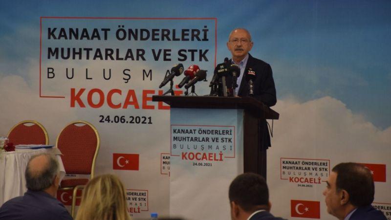 CHP Genel Başkanı Kılıçdaroğlu, Kocaeli'de kanaat önderleri ve muhtarlarla buluştu