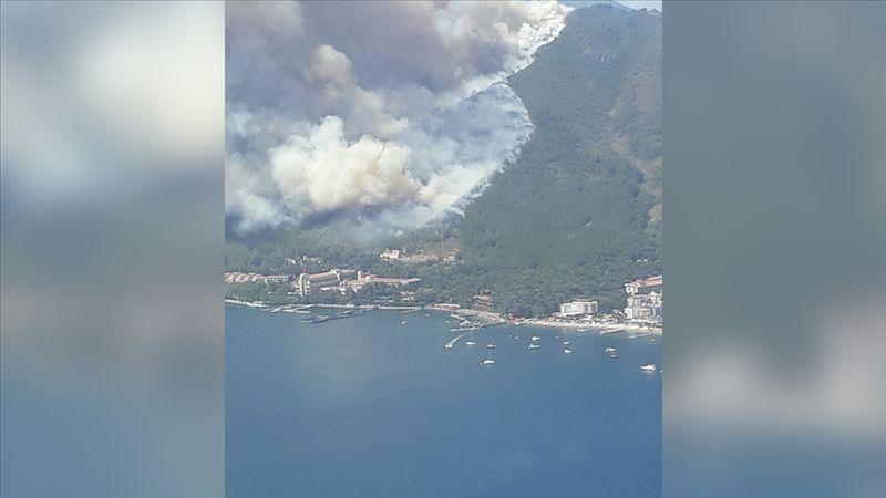 Marmaris'te orman yangını. Bir personel hayatını kaybetti
