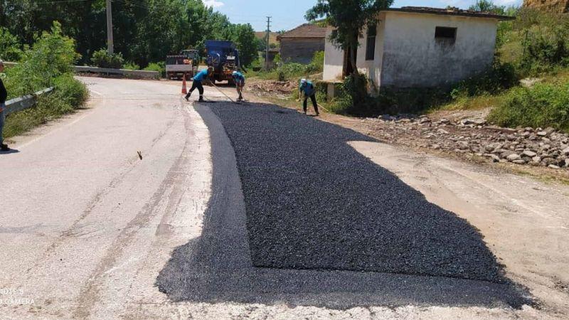 Kent genelindeki yollarda bakım ve onarım sürüyor