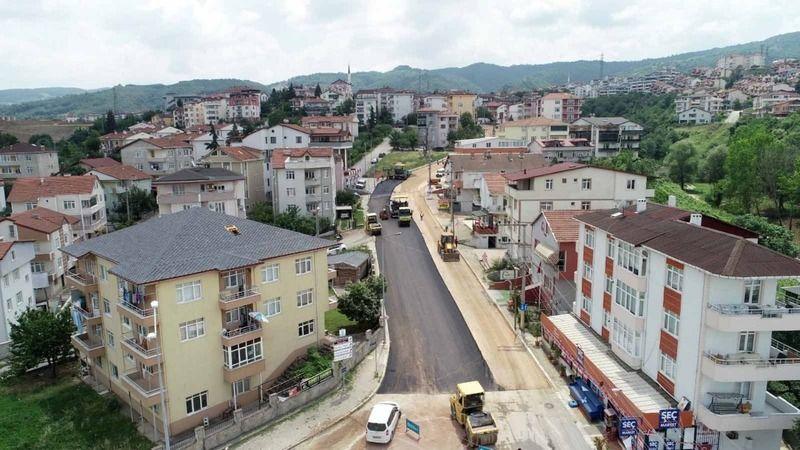Gölcük Anafartalar Caddesi asfaltlandı