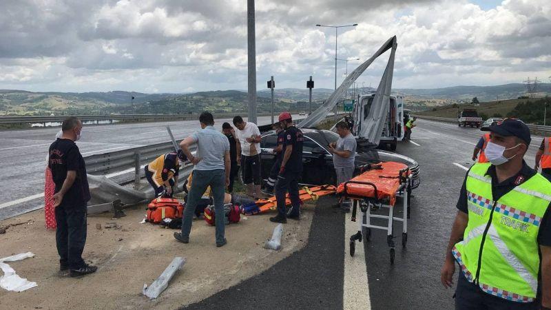 Kuzey Marmara Otoyolu'nda trafik kazası: 1 ölü, 4 yaralı