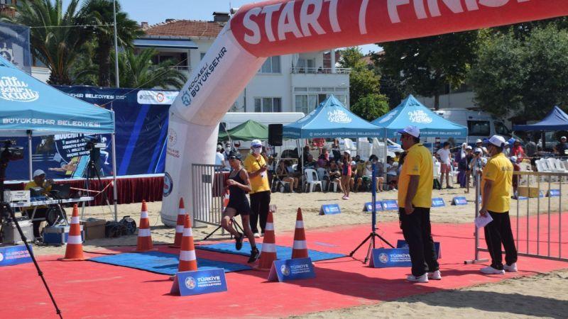 Modern Pentatlon Biathle-Triathle Türkiye Şampiyonası Kocaeli'de yapıldı