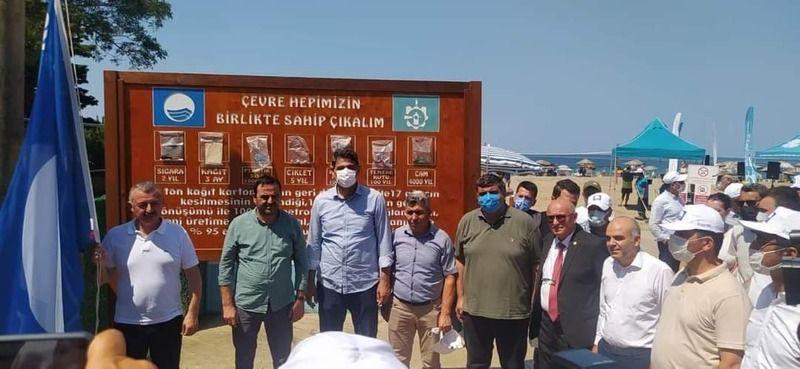 Kocaeli'de bir plaj daha mavi bayrak aldı
