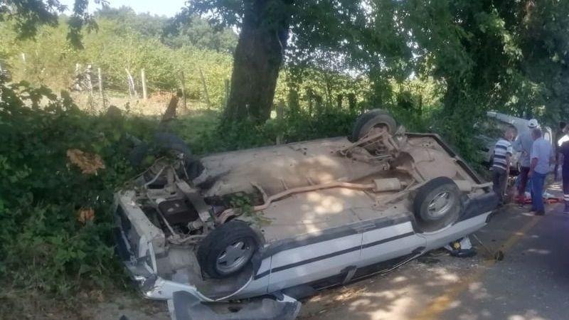 Kocaeli'de otomobil takla attı