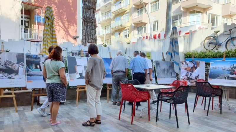 """Karamürsel'de """"Unutmak Yeniden Yaşamaktır"""" fotoğraf sergisi açıldı"""