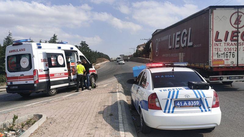 Kocaeli'de motosiklet kazası