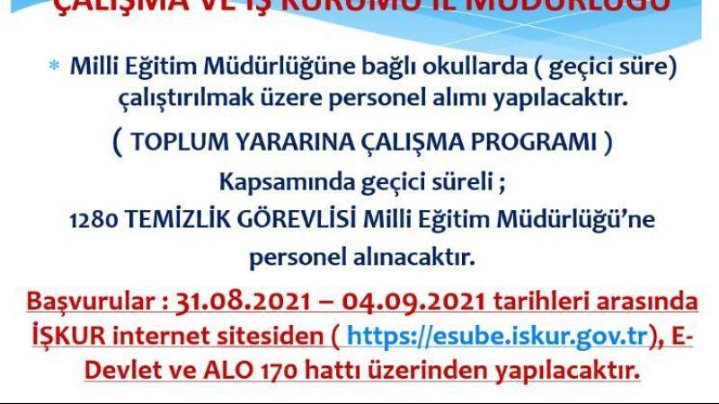 Kocaeli'de Milli Eğitime 1280 işçi alınacak