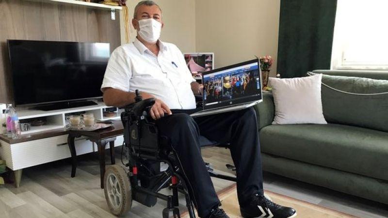 Kocaeli'de bedensel engelli muhtar çalışma azmiyle takdir topluyor