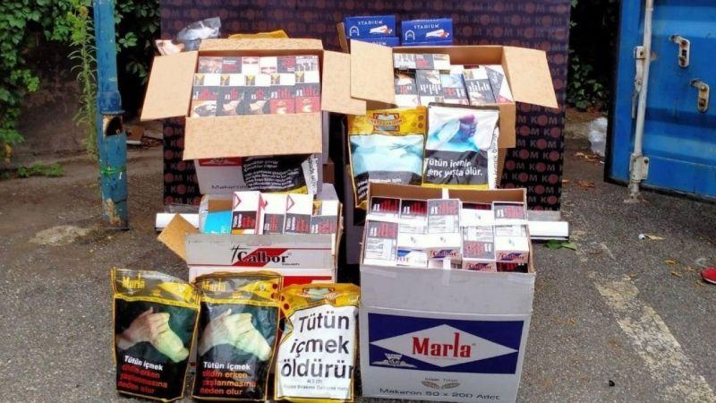 Kocaeli'de kaçak tütün operasyonu