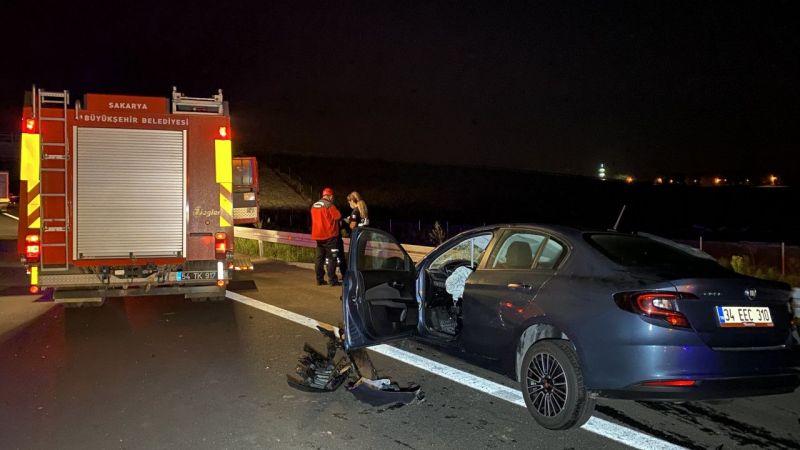 Kuzey Marmara Otoyolu'nda otomobilin tıra çarpması sonucu 1 kişi öldü
