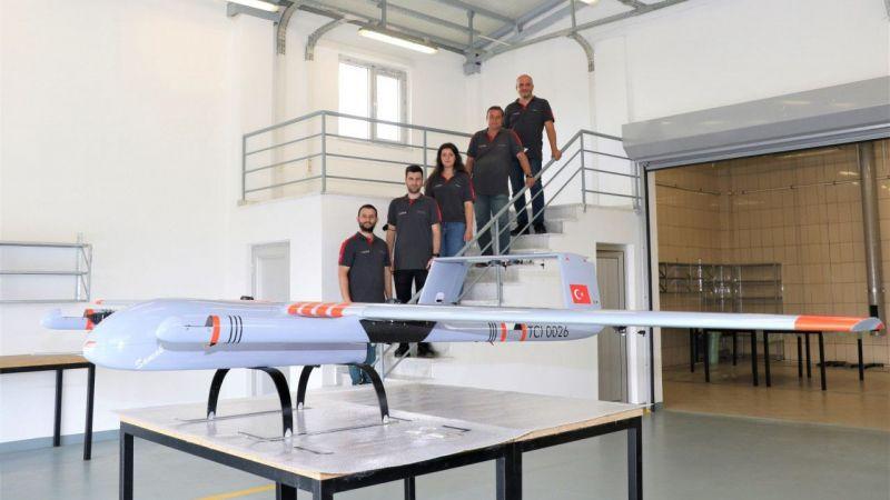 """Gebze Teknik Üniversitesinde geliştirilen İnsansız Hava Aracı """"Sancak""""ın montajı bitti"""