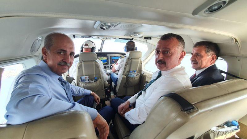 AK Parti Genel Başkanvekili Kurtulmuş, İzmit Körfezi'ni havadan denetledi: