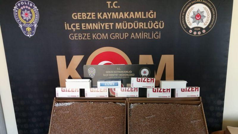 Kocaeli'de kaçak sigara baskını