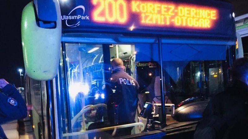 Kocaeli'de halk otobüsünde olay;yolcu pes dedirtti