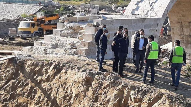 Demokrasi Müzesi'ndeki köprü inşaatında sona yaklaşıldı