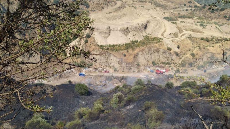 Efeler'de arazi yangını