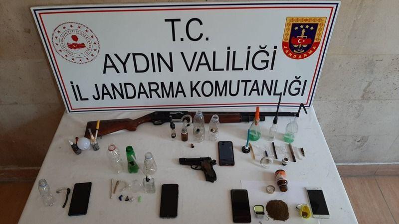 Aydın'da eş zamanlı uyuşturucu operasyonu