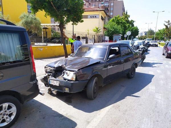 Aydın'da dalgınlık kaza getirdi
