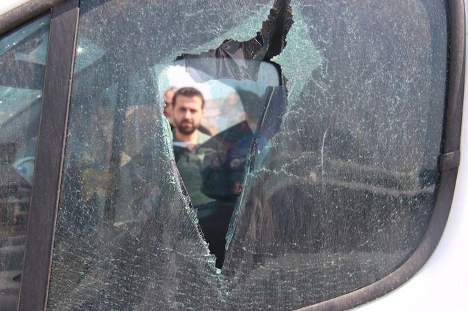 Aydın'da yayın aracına saldırı
