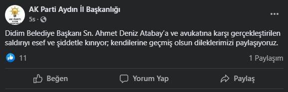 AK Parti Aydın saldırıyı kınadı