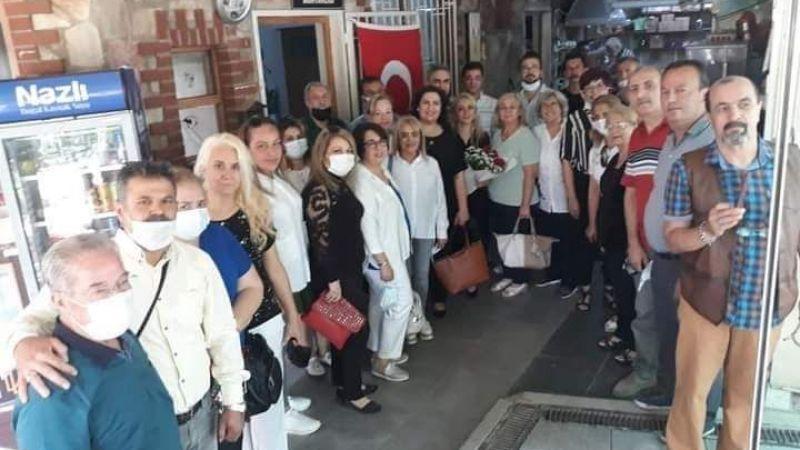 Muhtar Beşer'e ilk ziyaret İYİ Parti'den