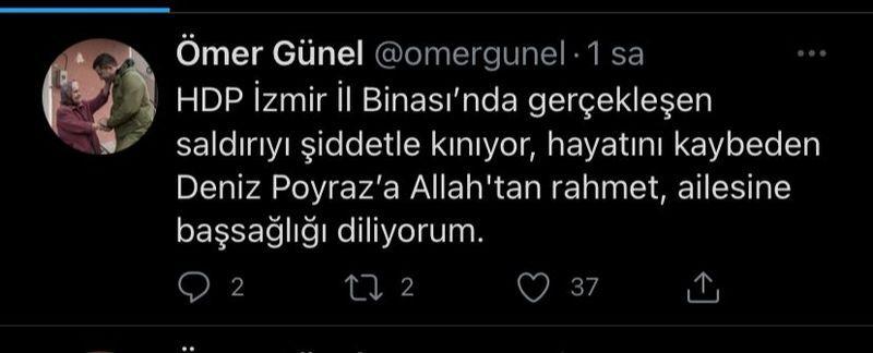 Şehidi unuttu HDP'ye başsağlığı diledi