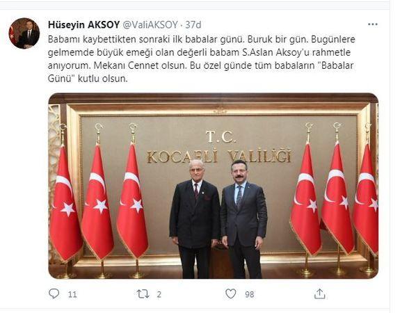 Vali Aksoy'dan duygulandıran kutlama