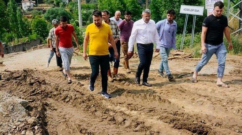 Başkan Güler, selden etkilenen mahalleleri ziyaret etti