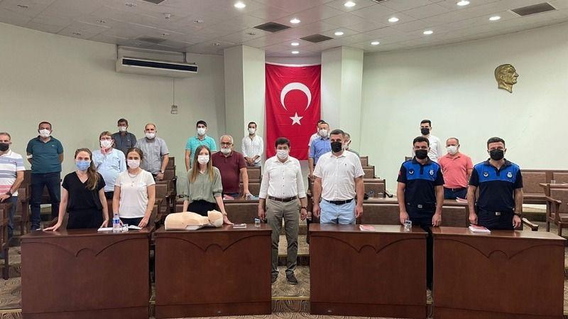 Kızılay'dan Nazilli Belediyesi'ne İlk yardım eğitimi