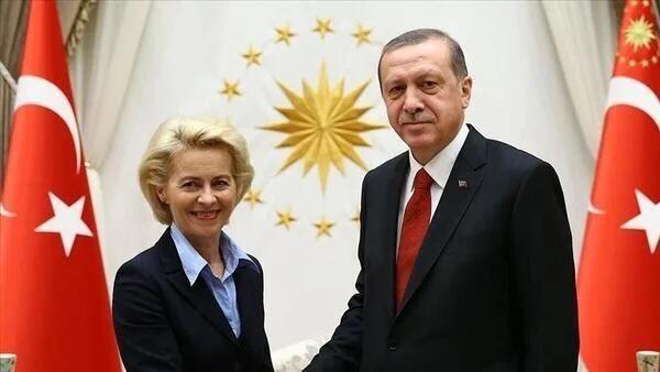 Cumhurbaşkanı Erdoğan, von der Leyen ile görüştü