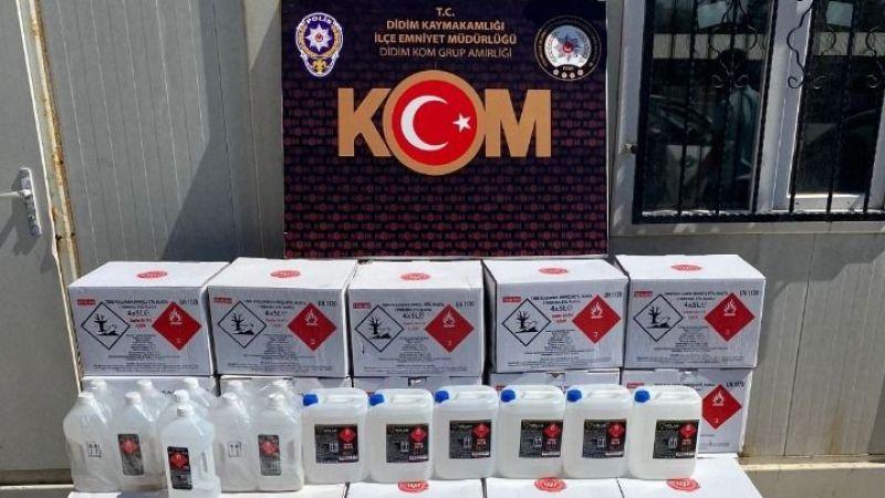 Didim'de kaçak alkol operasyonu
