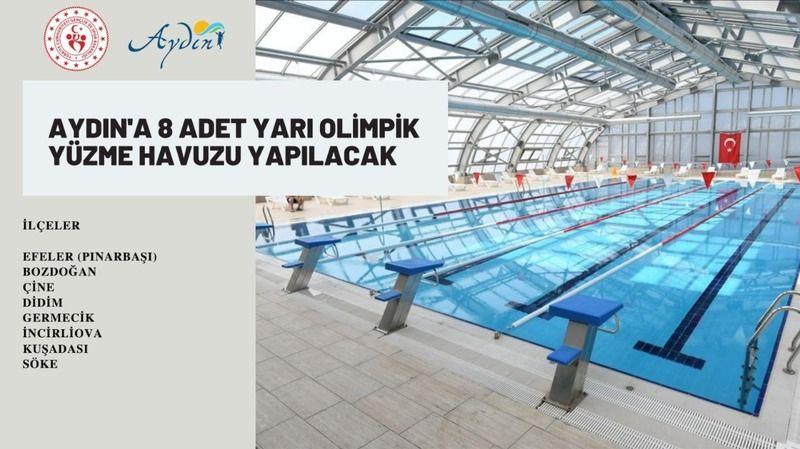 Aydın'a 8 adet yarı olimpik havuz yapılacak
