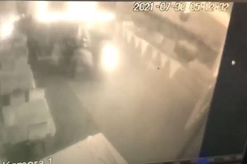 Nazilli'de kaza anı kameralara yansıdı