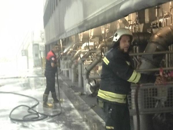 Söke'de kağıt fabrikasında yangın