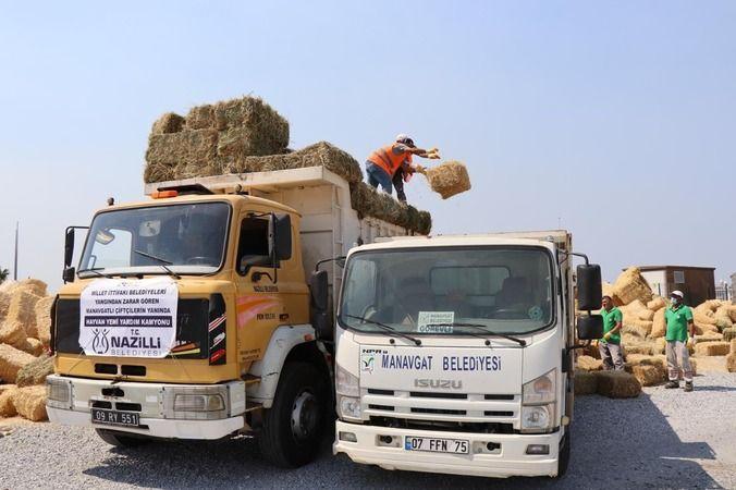 Nazilli'de toplanan yardımlar Manavgat'a ulaştı
