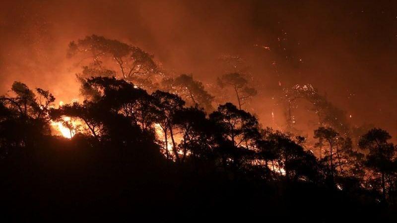 Bozdoğan'da yangın devam ediyor