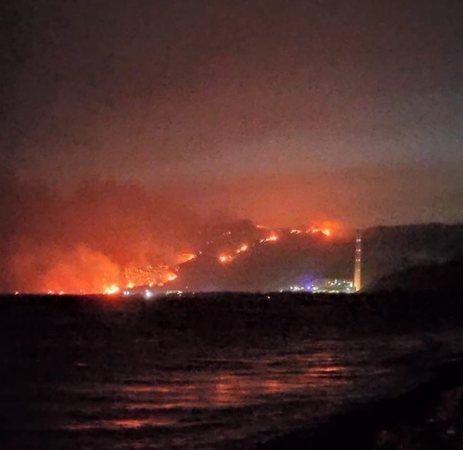 Bir yangın da Kıyıkışlacık'ta başladı