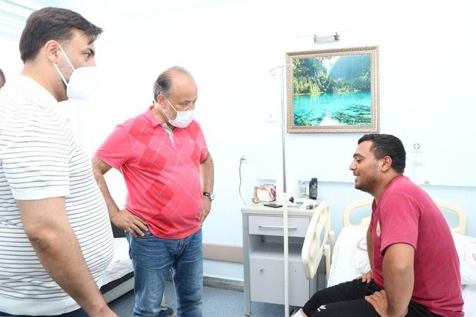 Yavuz, yangında yaralanan Aliyev'i ziyaret etti