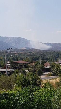 Karacasu'da bir yangın daha