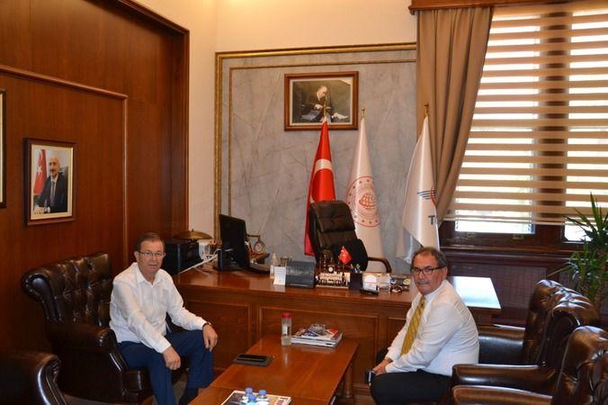 AK Parti'li Erim'den TCDD Müdürü'ne ziyaret
