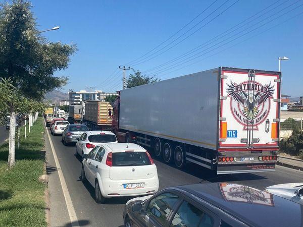Nazilli'de trafik durdu
