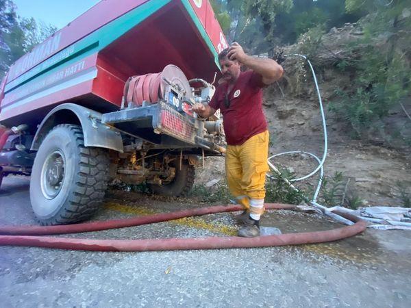 Çine'de yangın kontrol altında