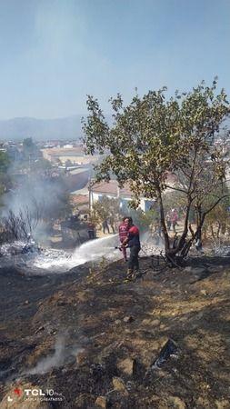 Yenipazar'da yangın